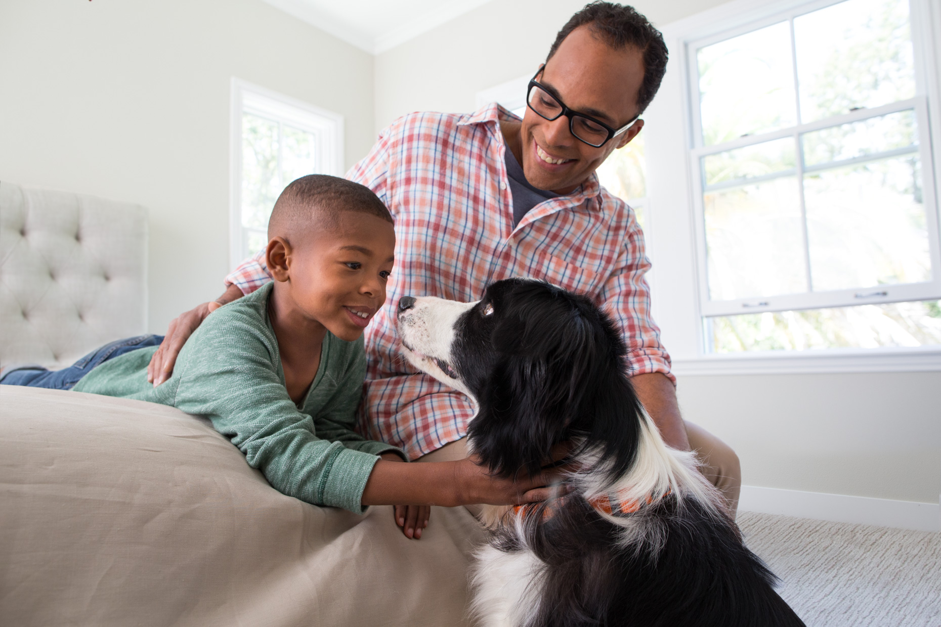 People and Pet Photography | Father and Son with Dog by Mark Rogers