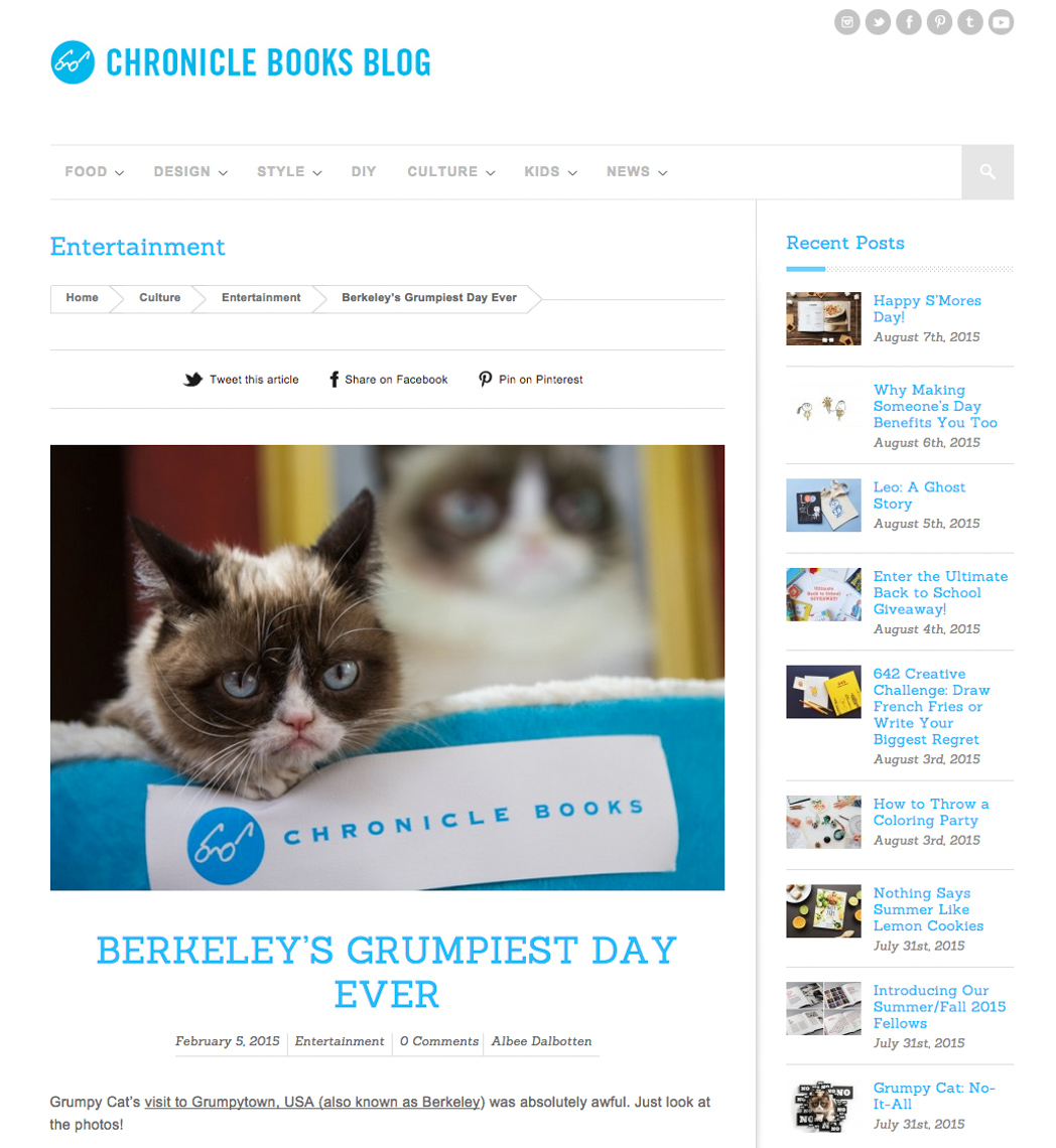 Commissioned Photography |  Grumpy Cat for Chronicle Books by Mark Rogers
