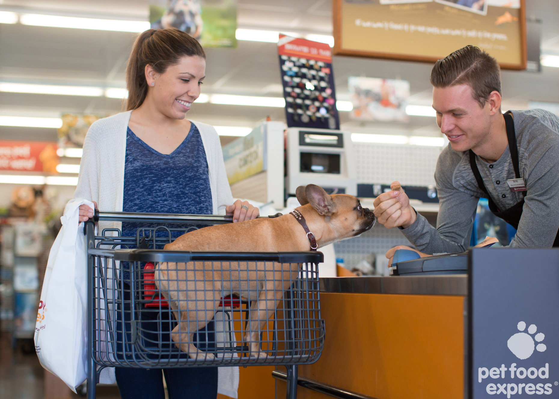 Commercial Photography | Woman with Dog  at Cashier by Mark Rogers