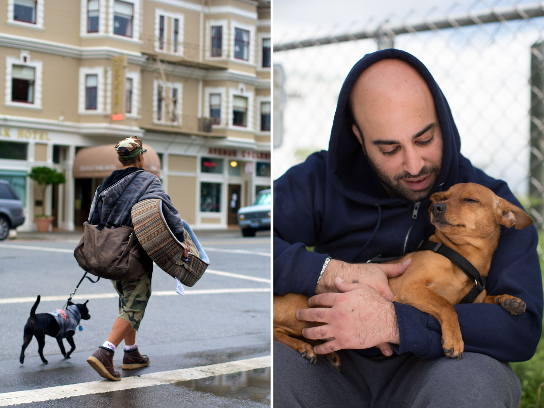 Commercial Animal Photography | Man Holding Dog by Mark Rogers