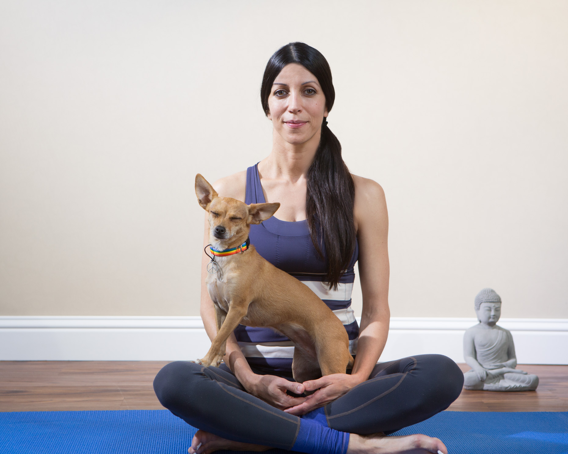 Pet Lifestyle Photography | Woman Doing Yoga with Dog by Mark Rogers