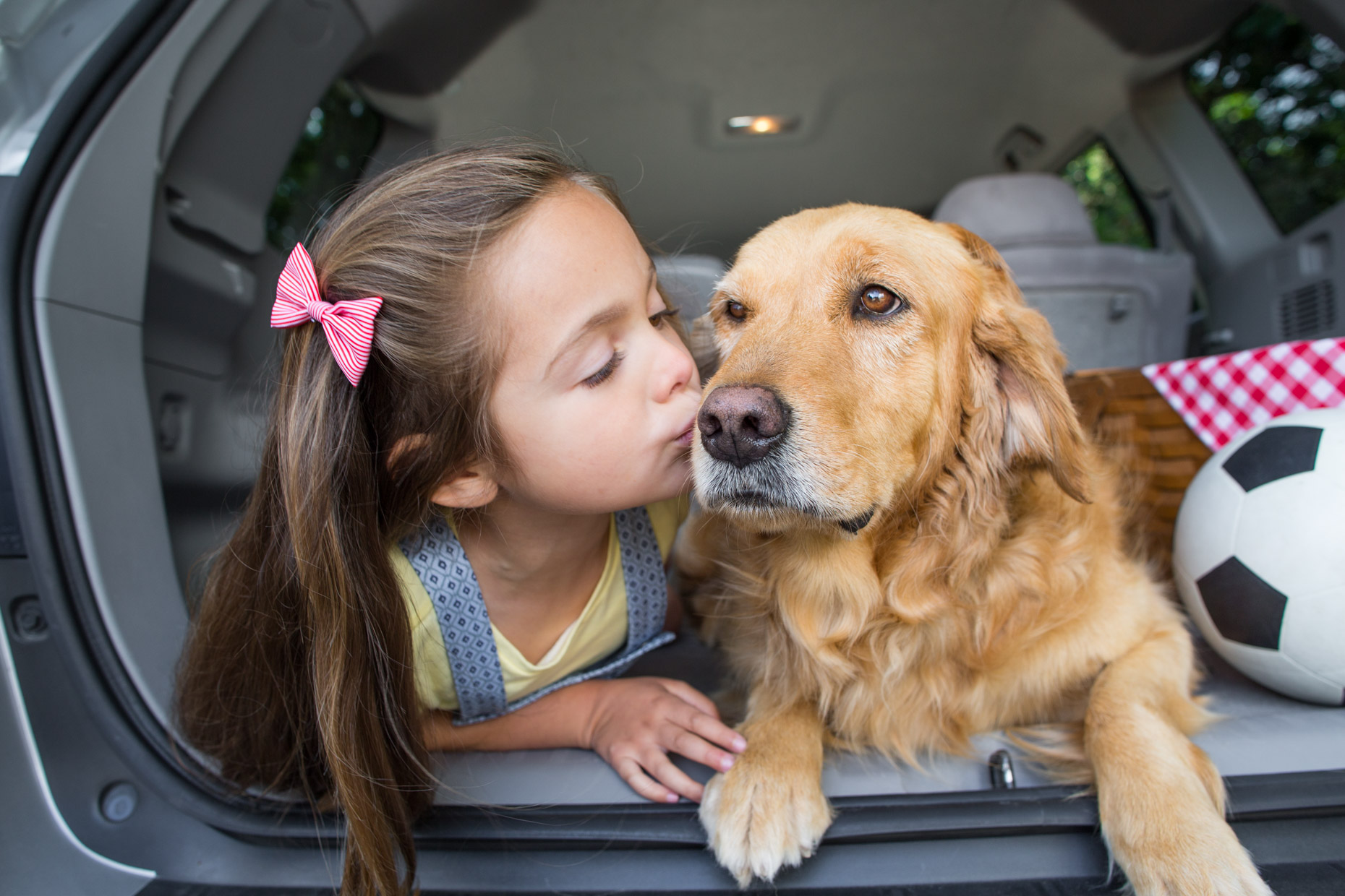 Pet Adverstising Photography | Girl Kissing Dog by Mark Rogers