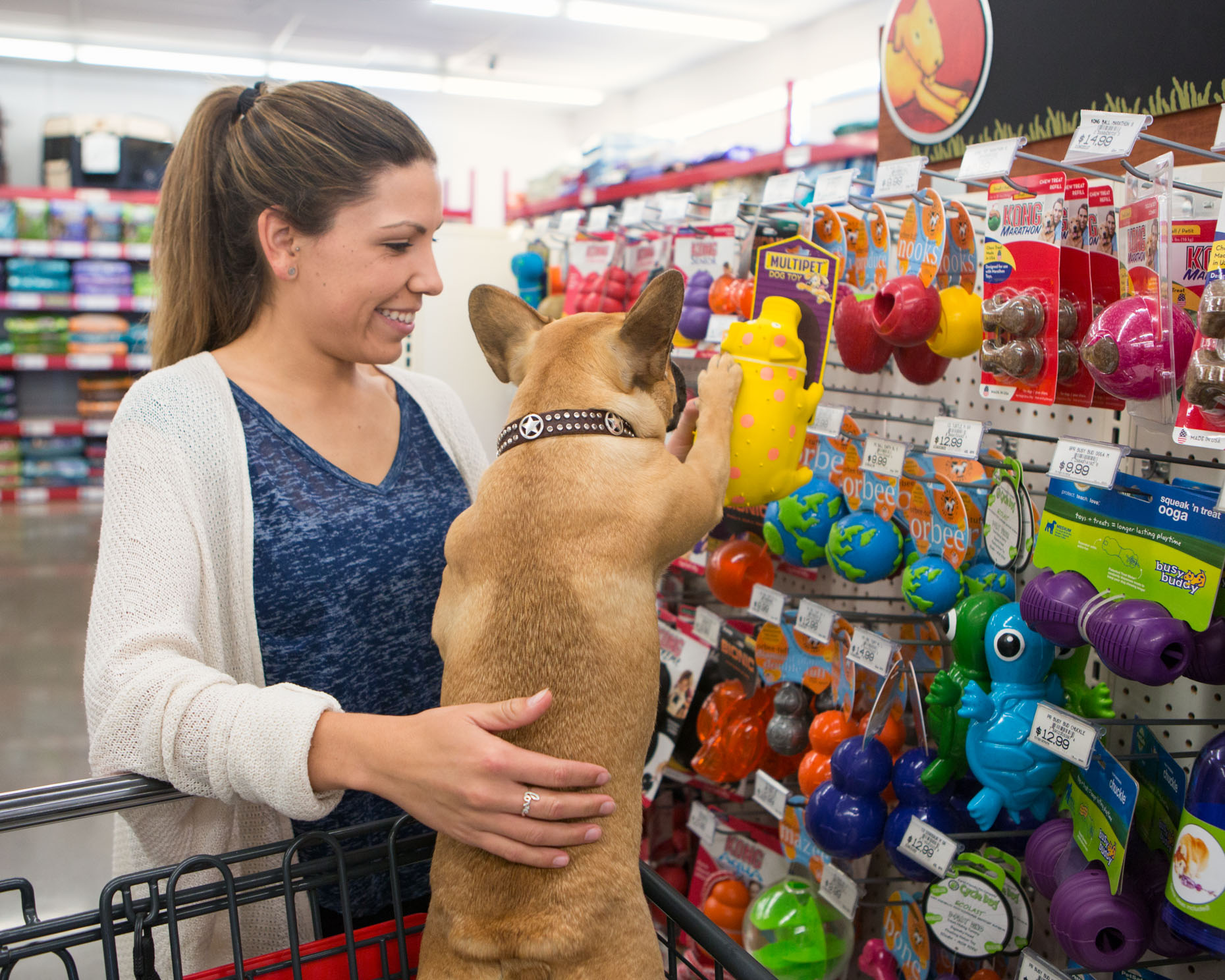Pet Lifestyle Photography | Woman and Dog Shopping by Mark Rogers